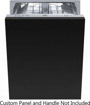 "Stu8249 24"" Built-in Dishwasher With 13 Place Settings 5 Wash Cycles Ada Compliance Aquastop Water Leak Protection 49 Dba Noise Level And 3 Delay Wash"