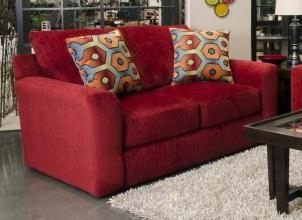 "Sutton Collection 3289-02 2844-54/2845-54 67"" Loveseat With Chenille Fabric Upholstery Comfort Coil Seating And Two Pillows In"