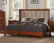 Evo Collection ZEVO-70CKB California King Panel Bed with Upholstered Headboard in