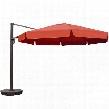 NU6790 Victoria 13-ft Octagon Cantilever w/ Valance in Terra Cotta Sunbrella