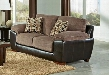 "Pinson Collection 4398-02-1622-29/1166-89 79"" Loveseat with Block Feet Pillow Top Arms and Two Throw Pillows in Chateau and"