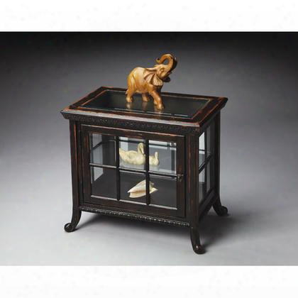 0339250 Masterpiece Collection Side Chair Curio Cabinet In Midnight