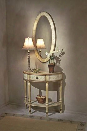 0667041 Artists Originals Collection Tuscan Cream Demilune Console