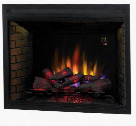 """39eb500gra 39"""" Led Builders Electric Firebox With Fixed Glass Remote Control A Uto Shut-off Timer And Function Indicator Lights In"""