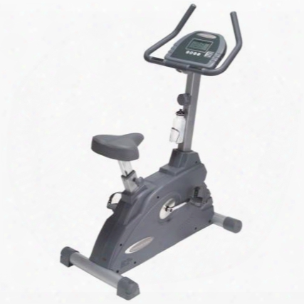 B2u Endurance Manual Upright Bike With Large Lcd Display And Contact Heart Rate Monitor Up To 15 Levels Of