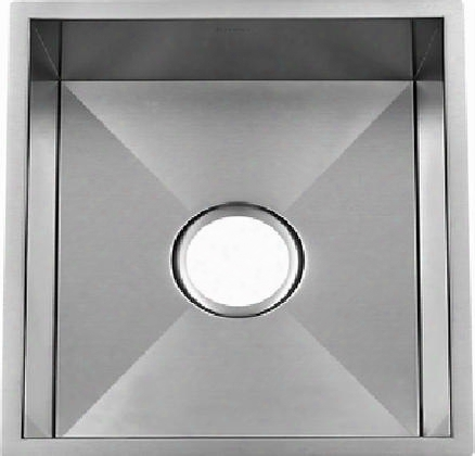 "Li-uk-s800 Galicia 15 1/4"" Single Bowl Undermount Kitchen Sink With Soundproofing System And Mounting Hardware In Stainless"