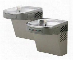 Lzostl8lc 8 Gph Ada Wall Mount Bi-level Filtered Hands Free Cooler: Stainless