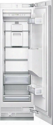 "T24id800rp 24"" Enrgy Star Rated Freedom Collection Built-in Flush Freezer Column With 11.3 Cu. Ft. Capacity Right Hinged Door External Ice And Water"