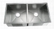 "LI-2000 Varsi 33 1/2"" Double Bowl Undermount Kitchen Sink with Soundproofing System and Mounting Hardware in Stainless"