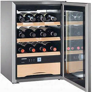 "Ws1200 17"" Wine Cooler With 12 Bottle Capacity Electronic Touch Control Wodden Shelves Removable Wooden Shelves Activated Charcoal Filter Accessories"