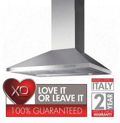 """Xov Series Xov42s 42"""" Chimney Sstyle Wall Mount Range Hood With 700 Cfm Internal Blower 3 Speed Control Halogen Lights Illuminated Touch Controls In"""