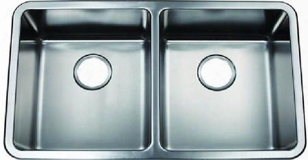 "Zsr-100 Fabrizia 31"" Double Bowl Dual Mount Kitchen Sink With Soundproofing System And Mounting Hardware In Stainless"