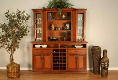 620039br-cb-bkd Bravado Hutch With Shelving For Ample Storage & In Brandy
