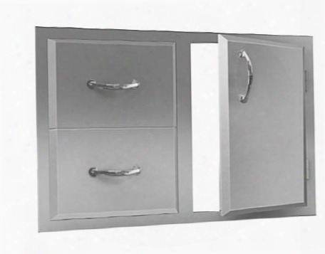 "Adc1 Agape 30"" Double Drawer And Door"