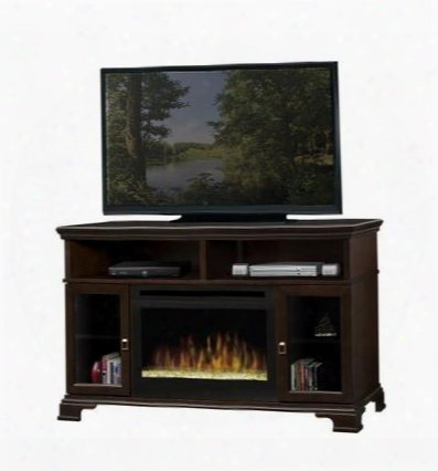 """Gds25-e1055g Brookings Collection Media Console Supports Up To A 52"""" Flat Screen Tv 25"""" Firebox With Glass Ember Bed:"""