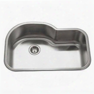 Mh-3200-1 Medallion Gourmet Series Undermount Stainless Steel Offset Single Bowl Kitchen