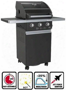 So3gbk 3 Burner Gas Grill With 42 000 Total Btu's Jet Flame Ignition 410 Sq. In. Cooking Surface 160 Sq. In. Enamel Warming Rack And 304 Solid Stainless