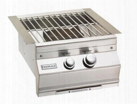 "19s0b1n0 Aurora 19"" Power Burner With Stainless Steel Grid Up To 60 000 Btus Natural Gas In Stainless"