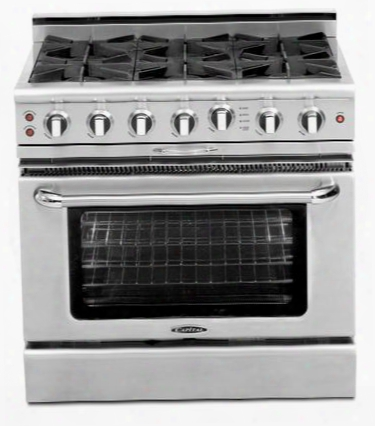 "Culinarian Series Cgsr362g2-l 36"" Freestanding Liquid Propane Range With 4 Open Burners Thermo-griddle Moto-rotis Rotisserie And Flex-roll Oven Racks In"
