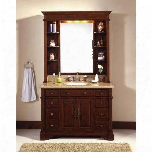 """Wf6495/dc 48"""" Pure Bathroom Vanity Set With Hutch In"""