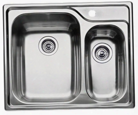 440162 Supreme Drop-in Stainless-steel 2 In. X 26-1/2 In. X 10 In. 1-hole Double Bowl Kitchen