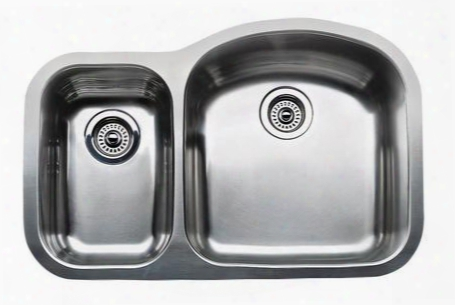 440168 Wave Plus Undermount Stainless Steel 31.5x20.9x8 0 Hole 1-1/2 In. Reverse Bowl Kitchen