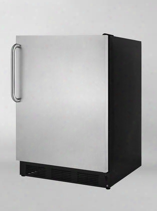 "Alb753bsstblhd 24"" 5.5 Cu.ft. Compact Refrigerator With Adjustable Glass Shelves Automatic Defrost Interior Light Ada Compliant: Stainless Door With Pro"