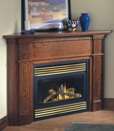 """Bgd33nr 34"""" Zero Clearance Direct Vent Fireplace Natural Gas Rear Vent Remote Ready Black"""