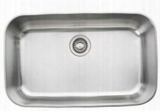 "Oxx610 Oceania Series 28"" Topmount Single Bowl Sink With Ledge In Stainless"