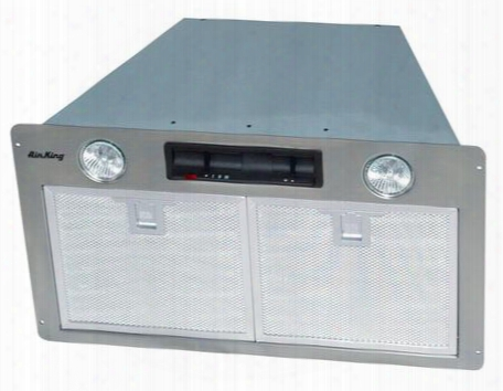 """Sev30s 30"""" Hood Insert With 450 Cfm Two 40w Candelabras Aluminum Mesh Filter And Rocker Switch Controls With 3"""