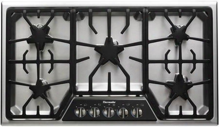 "Sgsx365fs 36"" Ada Compliant Gas Cooktop With 5 Patented Star Burners Powerful 18000 Btu Center Mounted Burner 200 Btu Extralow Burner Illuminated Control"