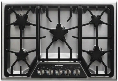 "Sgx305fs 30"" Ada Compliant Gas Cooktop With 5 Patented Star Burners Powerful 16000 Btu Center Mounted Burner 200 Btu Extralow Burner Illuminated Control"