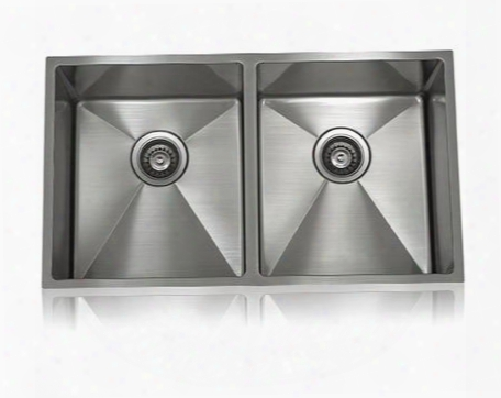 Ss-12ri-d1 Lenova Ss-1/2ri-d1 31 Inch Undermount 50/50 Double Bowl 16 Gauge Stainless Steel Kitchen