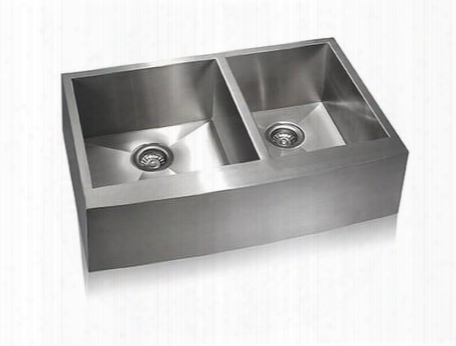 Ss-ap-d33 Lenova 33 Inch Farmhouse Apron 60/40 Doubel Bowl 16 Gauge Stainless Steel Kitchen