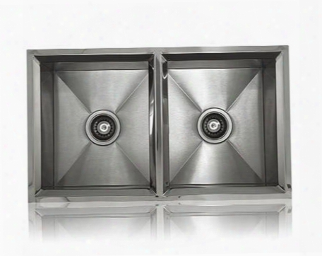 Ss-rim-ed Lenova Ss-rim-ed 33 Inch Undermount Or Topmount 16 Gauge 50/50 Double Bowl Stainless Steel Kitchen