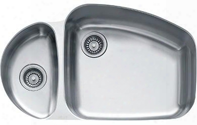 Vnx160lh Vision Series Undermount Double Bowl Sink With Left-hand Task Bowl In Stianless