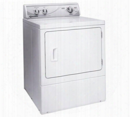 """Ade4brg 27"""" Electric Dryer With 7.0 Cu. Ft. Capacity 4 Drying Cycles 1/3 Hp Motor Secured Lint Filter And 220 Cfm Exhaust Fan In"""