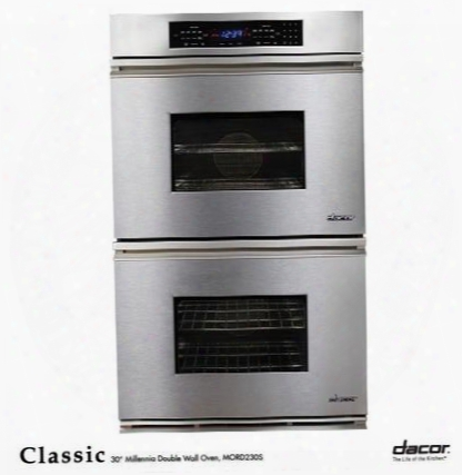 "Classic Mors227s 27"" Double Electric Wall Oven With 3.4 Cu. Ft. Convection Upper Oven Self-cleaning 6 Cooking Modes Proofing And Electronic Touch Controls:"