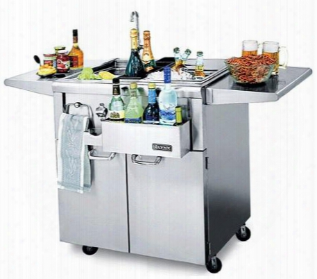 "Cs0f-1 30"" Cocktailpro Cocktail Station With Stainless Steel Cart Sink And Faucet Ice Storage Bottle Boots Cutting Board And Towel Bar - Approved For"