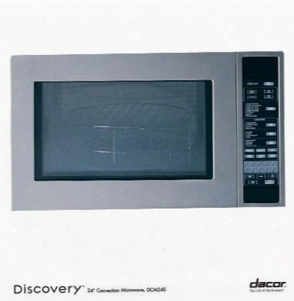 "Dcm24s Discovery 24"" 1.5 Cu. Ft. Capacity Built In Convection Microwave With 10 Sensor Cooking Modes Stainless Steel Interior 900 Watts Of Power: Stainless"