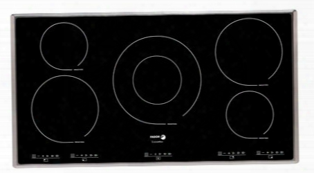 "Ifa-90al 36"" Induction Cooktop 5 Cooking Zones 12 Cookng Settings Extremely Durable Ceramic Glass 7-point Safety System Illuminated Touch Sensor Control:"