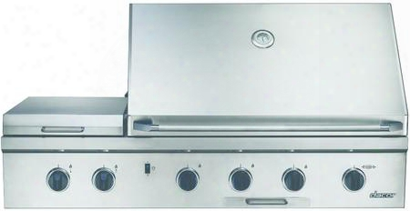 "Obs52ng Discovery 52"" Built-in Gas Grill With 2-20 000 Btu ""u"" Shaped Burner Ssear Burner Infrared Rotisserie System Halogen Lights And 2 Integrated Side"