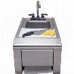 "ASK-T 14"" Preparation And Hand Wash Sink With Towel Dispenser Sink with Removable Cutting Board and Stainless Steel Construction in Stainless"