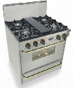 "TTN-260-7BSW 30"" Freestanding Gas-Natural Gas Range With 4 Open Burners 3.69 Cu. Ft. Broiler Drawer Manual Clean 18000 Oven BTUs 10 Amps 120 Volts In"