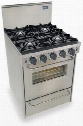 "TTN-480-7BW 24"" Freestanding Gas-Natural Gas Range With 4 Open Burners 2.92 Cu. Ft. Convection Oven Manual Clean Broiler Drawer 120 Volts 10 Amps In"