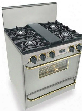 "Tpn-260-7bsw 30"" Freestanding Gas-liquid Propane Range With 4 Open Burners 1 Vari-flame Simmer 3.69 Cu. Ft. Manual Clean Oven Broiler Drawer 120 Volts 10"