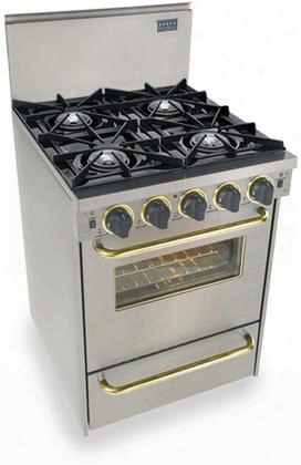 "Ttn-480-7bsw 24"" Freestanding Gas-natural Gas Range With 4 Open Burners 2.92 Cu. Ft. Convection Oven Manual Clean Broiler Drawer 120 Volts 10 Amps In"