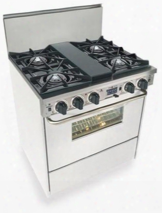 "Wpn-275-w 30"" Freestanding Dual Fuel-liquid Propane Range With 4 Open Burners 3.69 Cu. Ft. Convection Oven Self Cleaning Vari Flame Simmer On Front Burners"