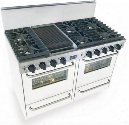 """Wpn-531-7w 48"""" Freestanding Gas-liquid Propane Range With 6 Sealed Ultra High-low Burners 2.92 Cu. Ft. Convection Ovens Broiler Drawer Double Sided"""