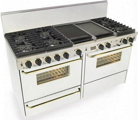 """Wpn-637-7sw 60"""" Freestanding Dual Fuel-liquid Propane Range With 6 Sealed Ultra High-low Burners Two 3.69 Cu. Ft. Convection Oven Self Cleaning Broiler"""